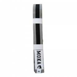 Mokahardware Kids BJJ Belt Gray-Black