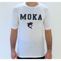 Moka Rash Guard White Short sleeves