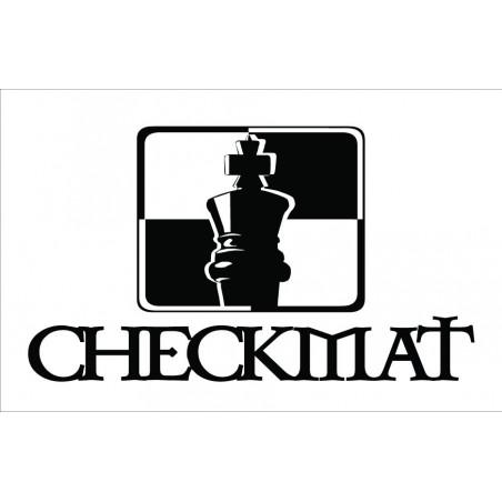 CheckMat Patch Hvid