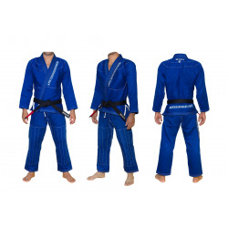 MokaHardware Blue Simple BJJ Gi Contrast