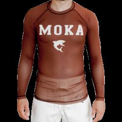 Moka Rash Guard Brown