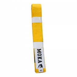 Mokahardware Kids BJJ Belt Yellow