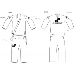 CheckMat White BJJ Gi