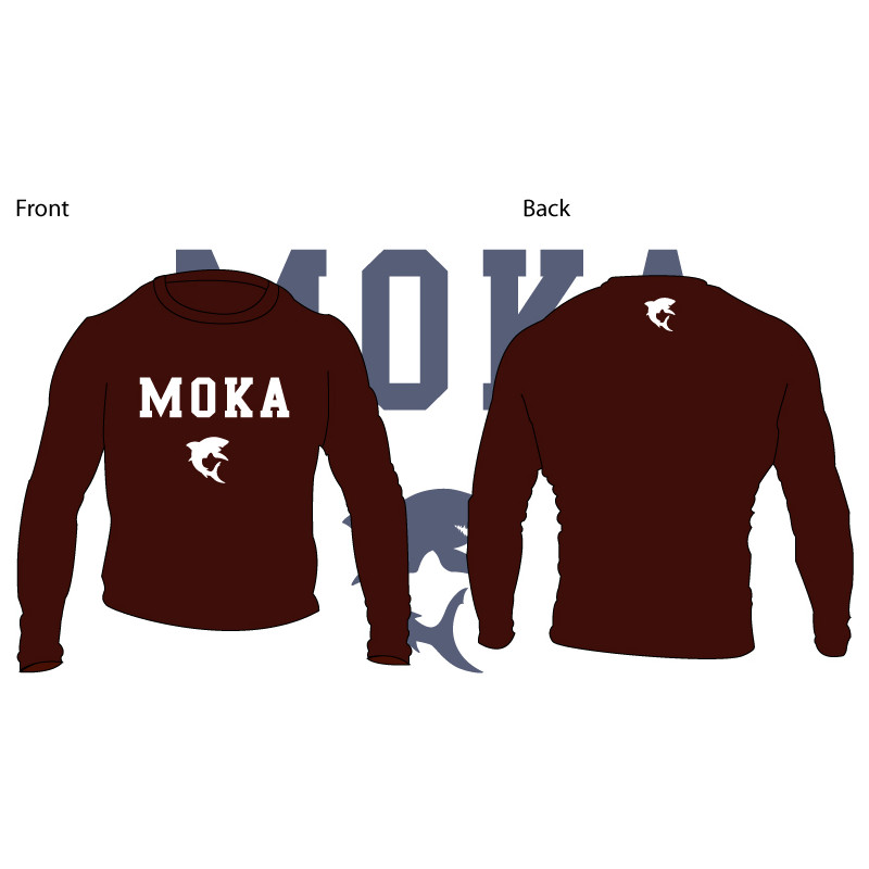 Moka Rash Guard Brown