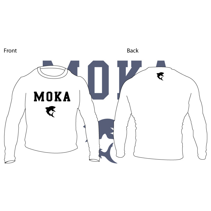 Moka Rash Guard White